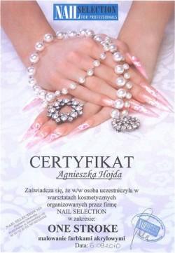 Kosmetyczka Poznań - Agnieszka Hojda - certyfikat ONE STROKE