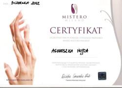 Kosmetyczka Poznań - Agnieszka Hojda - certyfikat Mistero Milano