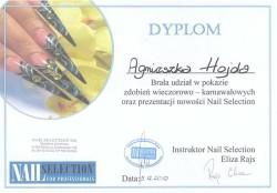 Kosmetyczka Poznań - Agnieszka Hojda - dyplom Nail Selection