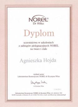 Kosmetyczka Poznań - Agnieszka Hojda - dyplom Norel