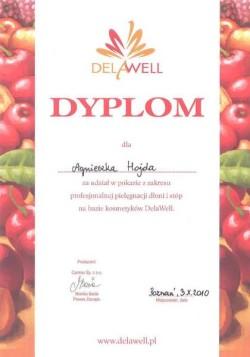 Kosmetyczka Poznań - Agnieszka Hojda - dyplom DelaWell
