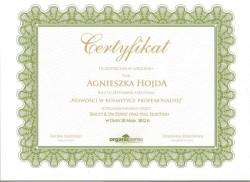 Kosmetyczka Poznań - Agnieszka Hojda - dyplom Spa Expert