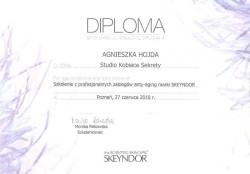 Kosmetyczka Poznań - Agnieszka Hojda - dyplom SKEYNDOR